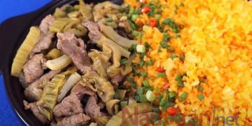 Cách làm cơm rang dưa bò chuẩn vị Nam Định